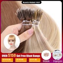 MRSHAIR ננו טבעות מיקרו טבעת 100% שיער טבעי הרחבות ללא רמי שיער חום בלונד טהור צבע 50/200pc 12 16 20 24 אינץ