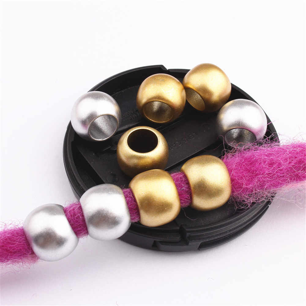Rambut Afrika Perhiasan Kepang Aksesoris Dekorasi Emas Perak Rambut Ring Tabung Manset Pria Model Takut Beads Rambut Ekstensi Alat