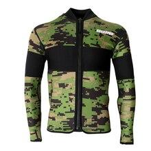 Модные крутые Гидрокостюмы куртка 2,5 мм неопрен с длинным рукавом гидрокостюм Топ для водных видов спорта