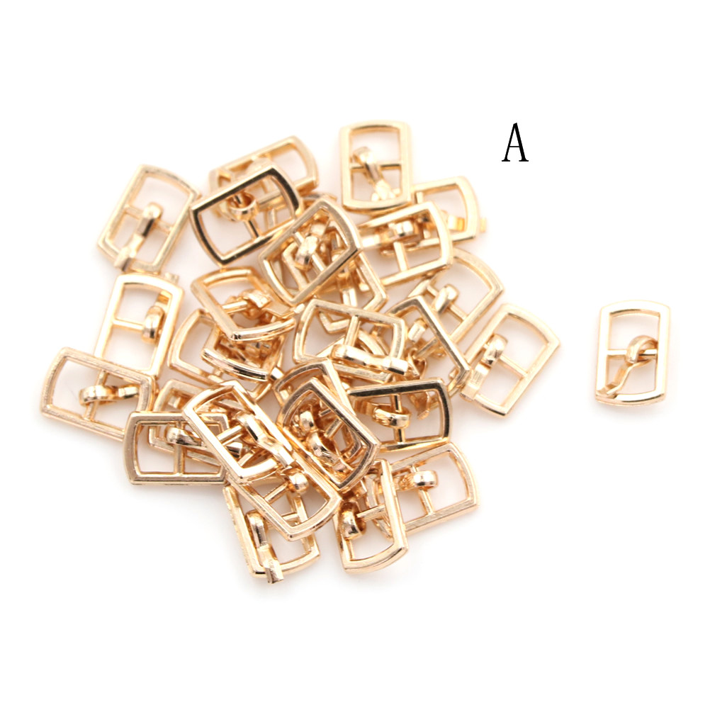 3/10PCS 4.5mm Mini Buckle DIY Patchwork Buckle For Dolls Clothing Adjustable Accessories Handmade Sewing 10