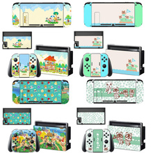 Animal Crossing Screen Protector Sticker Skin for Nintendo Switch NS Console Dock Charger Stand Holder Joycon Controller Case