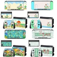 Animal Crossing etiqueta protectora de pantalla de la piel para Nintendo Switch NS consola cargador de muelle soporte deslice el controlador caso