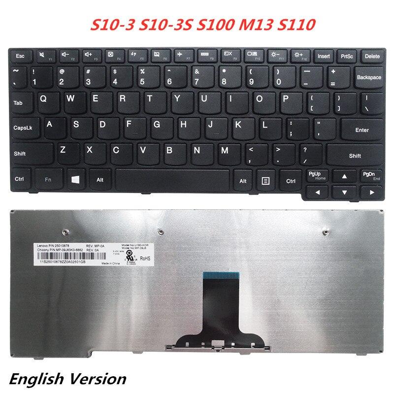 الكمبيوتر المحمول الإنجليزية لوحة مفاتيح لأجهزة لينوفو S10-3 S10-3S S100 M13 S110 دفتر Palmrest غطاء الغطاء العلوي