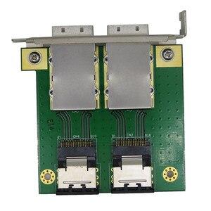 Image 1 - רכיבי מחשב עבור פנימי SFF 8087 36P כדי 2 נמל חיצוני HD sas26P SFF 8088 מול פנל PCI SAS כרטיס מתאם לוח