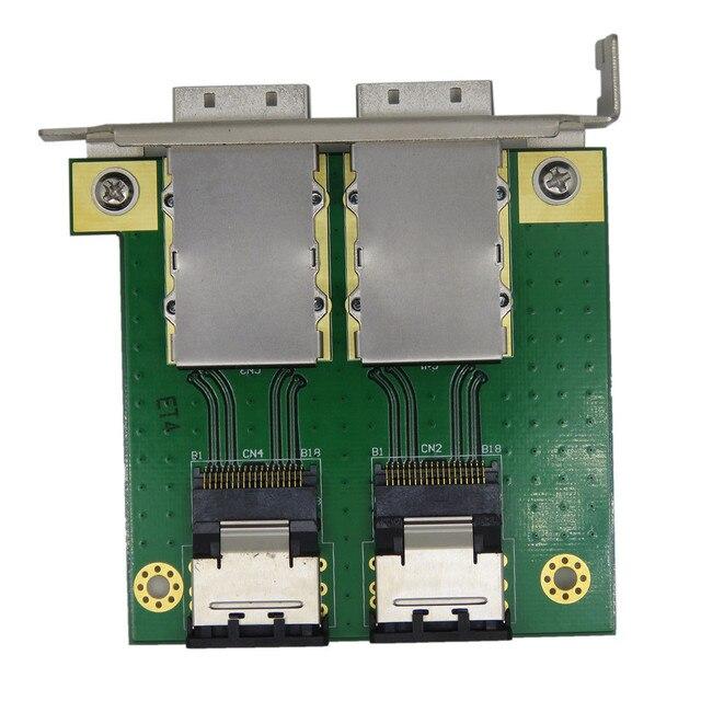 רכיבי מחשב עבור פנימי SFF 8087 36P כדי 2 נמל חיצוני HD sas26P SFF 8088 מול פנל PCI SAS כרטיס מתאם לוח