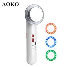 AOKO 7 in 1 Cavitation Body Slimming Machine Ultrasonic LED Photon EMS Slimming Beauty Machine Skin Tighten Face Body Massager