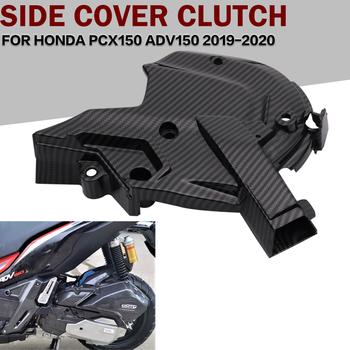 Dla Honda ADV150 PCX150 ADV-150 ADV 150 PCX 150 2019-2020 motocykli pokrywa silnika pokrowiec ochronny po lewej stronie skrzynia silnika przednia okładka tanie i dobre opinie CN (pochodzenie) 15cm 18cm ABS PICTURE Obejmuje listew ozdobnych 0 2kg