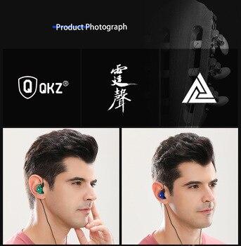 Original QKZ AK6 Copper Driver HiFi Wired Earphone Sport Running  Headphones Bass Stereo Headset Music Earbuds fone de ouvido 4