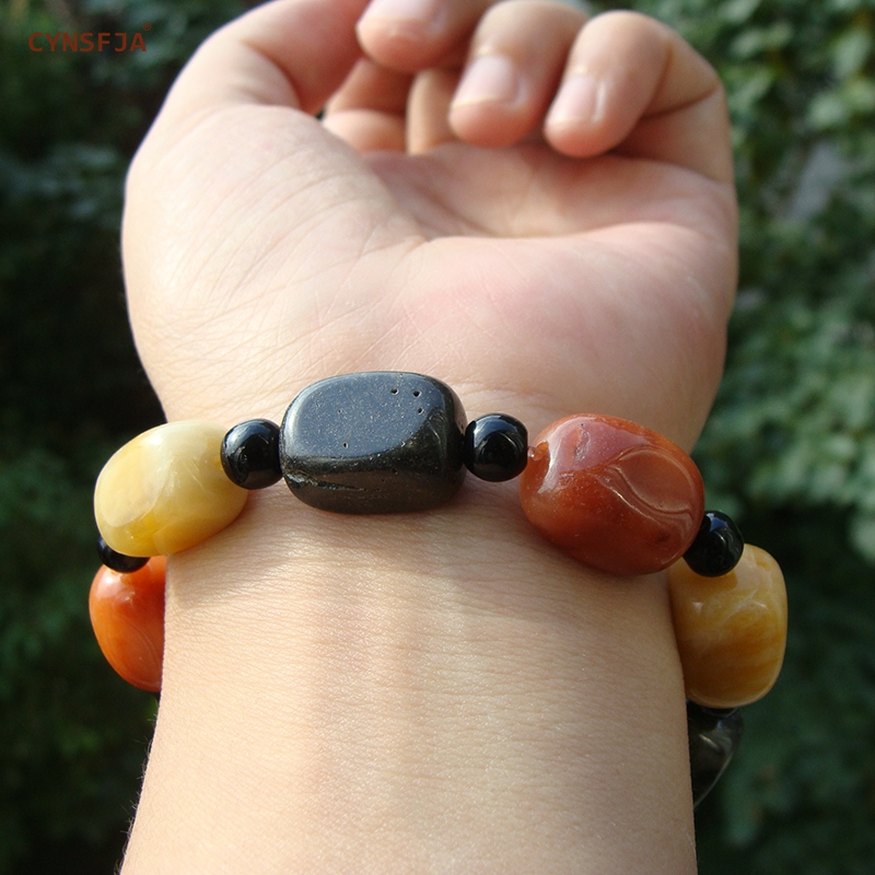 CYNSFJA Real Certified Natural Golden Jade Fine Jewelry Men Women Jade Bracelet Bangle Colorful High Quality Best Birthday Gifts in Bracelets Bangles from Jewelry Accessories