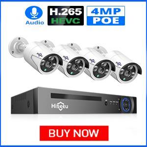Hiseeu 4MP POE Security Camera System