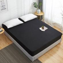 Drap housse solide 100% coton drap de lit avec élastique bande matelas couvre Multi taille couverture lit personnalisable