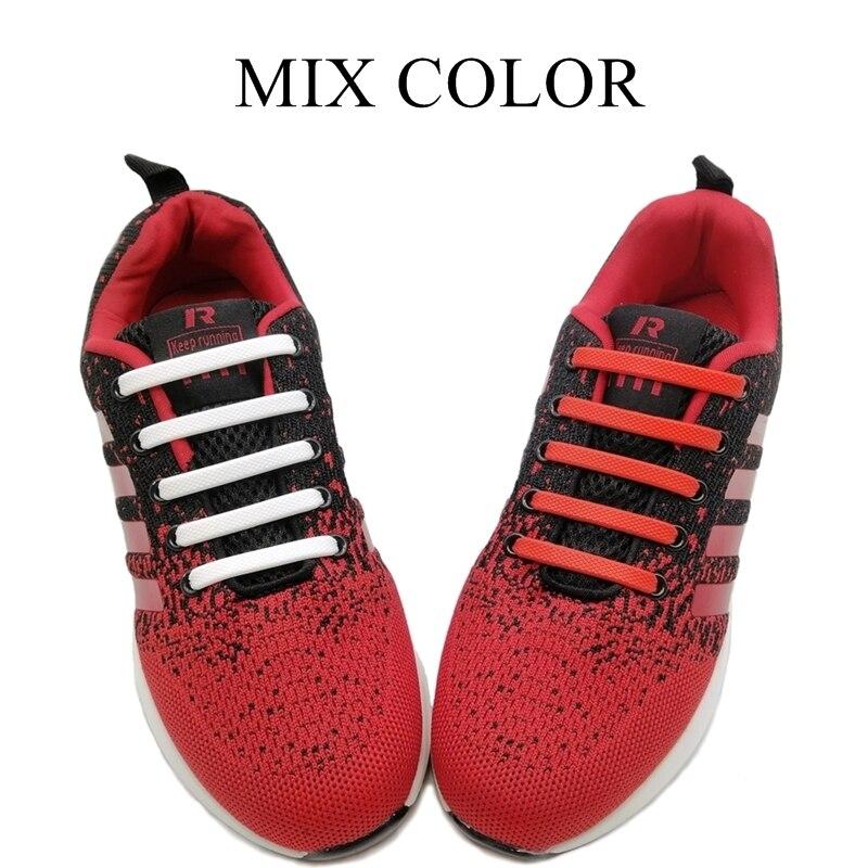 16 шт./компл. эластичные силиконовые шнурки для обуви, модные беговые шнурки без шнурков, Все кроссовки на ремешке 3