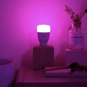 Image 2 - 1 4Pcs Yeelight Smart LED Bulb 1SE YLDP001 6W E27 RBGW Work With Homekit AC100 240V 1700K 6500K E27 800lm Desk Floor Table Lamp
