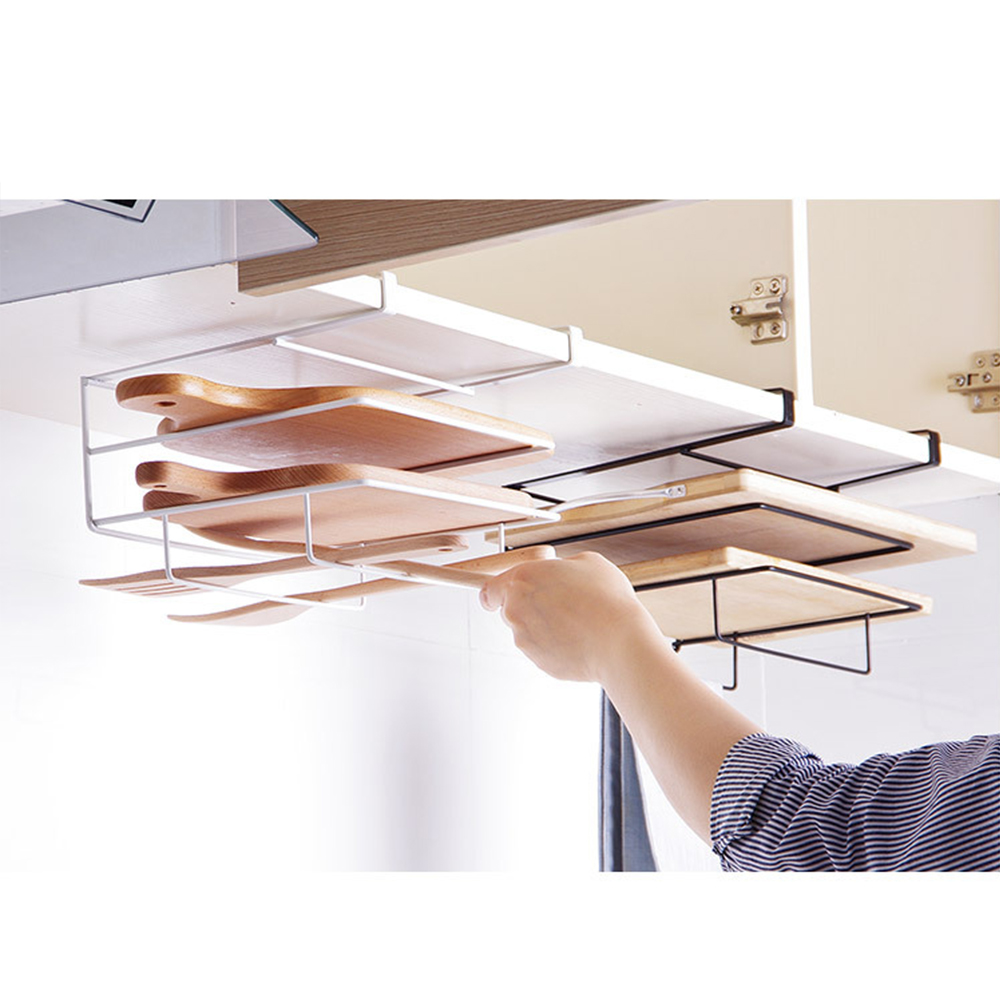Hanger Holder Towel-Rack Shelf Hook Cupboard Kitchen-Organizer Wash-Cloth Bathroom Cabinet title=