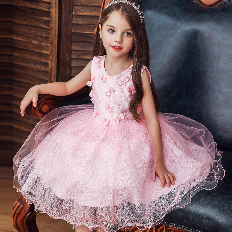 Baby Girl's First Birthday Party Dinner Dress Girl's Wedding Flower Girl Bridesmaid Party First Eucharist Decorative Dress