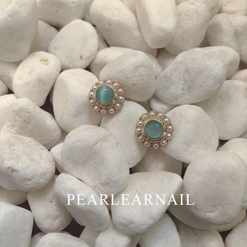 Korean Personality Wild Opal Simulation Pearl Earrings Fashion Retro Temperament Ear Jewdry(China)