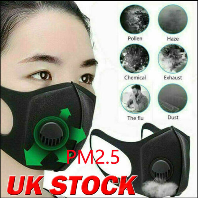 Reusable Face Cover Anti Dust Flu with Cabon Filter Mouth Protection Pad Shield 3