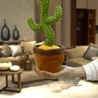Altoparlante di Cactus danzante parlare di ricarica USB ripeti la voce ballerino di Cactus toy talk peluche giocattoli farciti per bambina ragazzo w musica