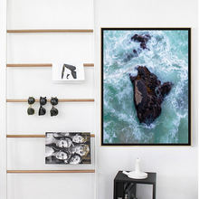 Текстовой и морской пейзаж в скандинавском стиле постер с жизненными