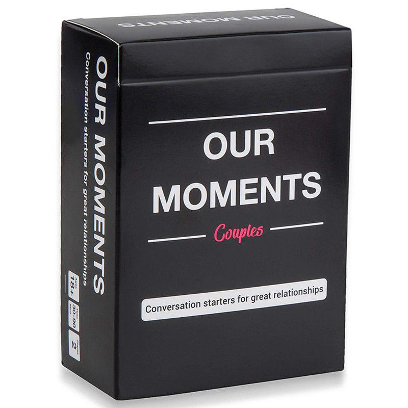 OUR MOMENTS Couples Conversation Starters for Great Relationships Fun Cards Game Adult Board Game Card image
