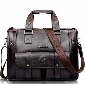 Maletín de cuero negro para hombre, bolso de negocios, bandolera, bolso de hombro clásico para hombre, grandes bolsos de viaje para ordenador portátil, superventas XA177ZC