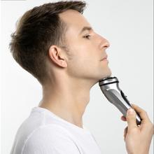 Golarka elektryczna maszynka do golenia brody męskiej maszynka do golenia męska zmywalna maszynka do golenia USB nadająca się do wielokrotnego ładowania maszyna barbeador tanie tanio NoEnName_Null Akumulator Mężczyzna CN (pochodzenie) Triple blade 85 Min Nie myć 2018 Globalny Uniwersalny (100-240 V)