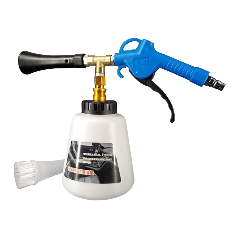 Car Tornado Cleaning Foam Gun With Brush High Pressure Washer Tool For Blowing Dust Auto Interior Exterior Deep Cleaning Machine