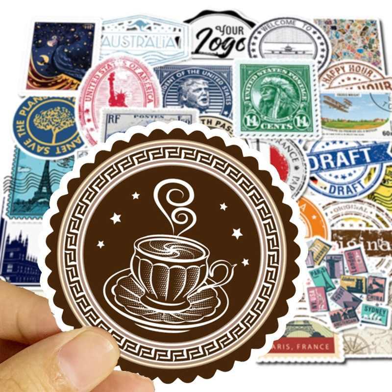 50 pçs/lote Personalizado Adesivos Papelaria Retro Selo Do Curso TZ078G Graffiti Sticker Papelaria Adesivo Removível À Prova D' Água