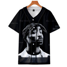 Cool tupac 2pac short sleeve t shirt boy summer o-neck baseball shirt swag harajuku streetwear male baseball shirt tops