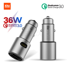 Xiaomi Car Charger QC 3.0 Dual USB Quick Charge 5V 3A 36WสำหรับiPhone Samsung Huawei oppo Vivo USB C PD