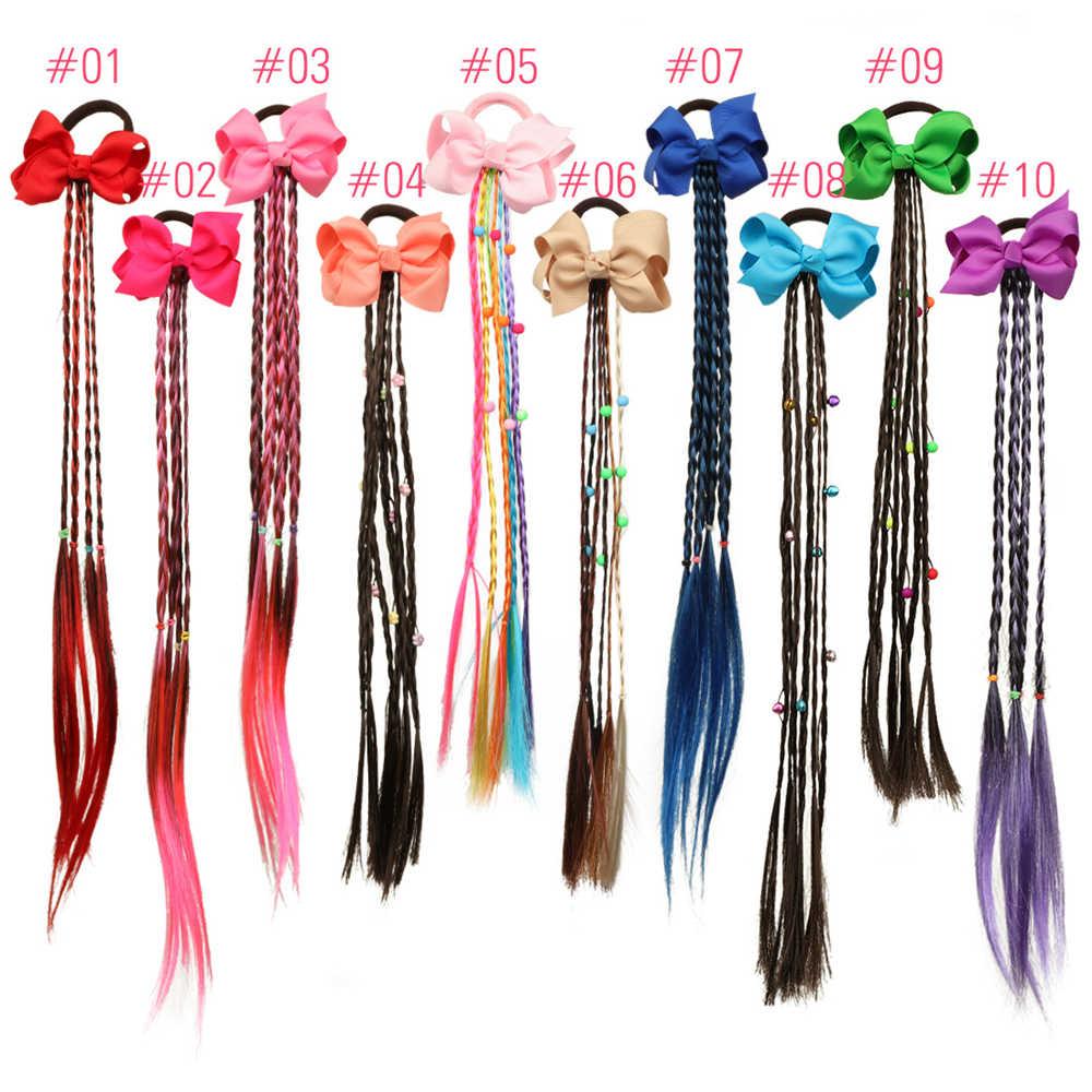 20 Styles filles licorne arc torsion perruque bandeau élastique bandeau tressé chapeaux élastique pour queue de cheval coiffure accessoires de cheveux