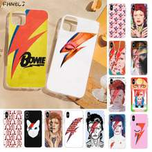 Fhnblj David Bowie Fashion Tpu Black Phone Case Cover Romp Voor Iphone 8 7 6 6S Plus X 5S Se 2020 Xr 11 Pro Xs Max(China)
