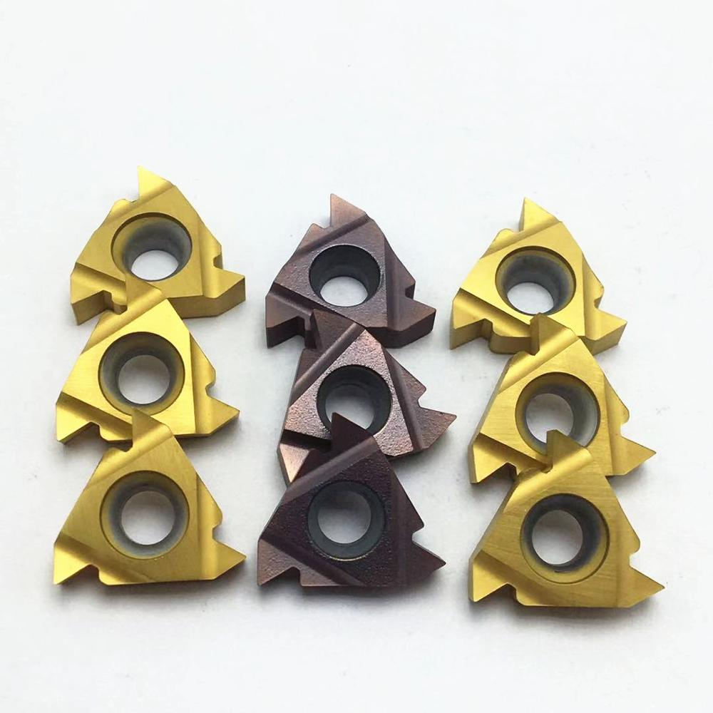 Carbide Thread Insert 11IR 11ER 16IR 16ER AG60 VP15TF / US735/UE6020 Thread Lathe Tool Turning Blade Turning Tool