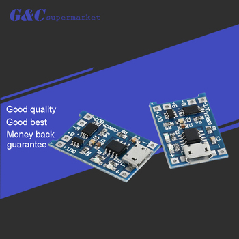 5pcs 5V 1A Micro USB 18650 Lithium Battery Charging Board Charger Module+Protection Dual Functions 5pcs 5v 1a micro usb 18650 lithium battery charging board charger module protection dual functions