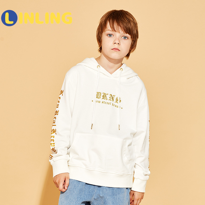 LINLING Fashion Active Streetwear Boys Autumn Spring Sweatshirts Children's Clothes Fashion Kids Long Sleeve Sweaters Tops V247 1