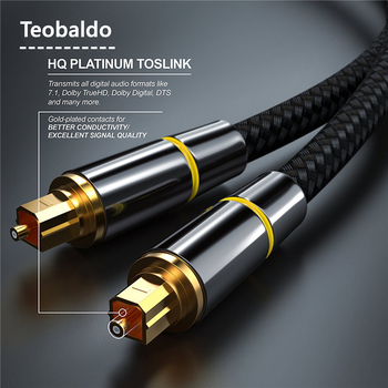 Digital Optical Audio Cable SPDIF Fiber Toslink Speaker Wire for tv box ps4 ps5 Amplifiers Blu-ray Player Xbox 360 Soundbar 20m