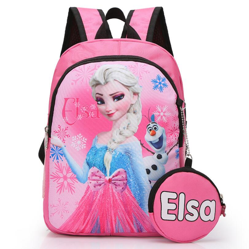 New Orthopedic Breathable Elsa Schoolbag Children Cartoon School Bags For Girls School Backpacks Mochila Infantil