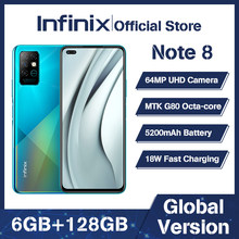Globale Version Infinix Hinweis 8 Smart Telefon 6GB RAM 128GB ROM 6,95 Zoll HD + Display 5200mAh 18W Schnelle Lade Mobile X692-K