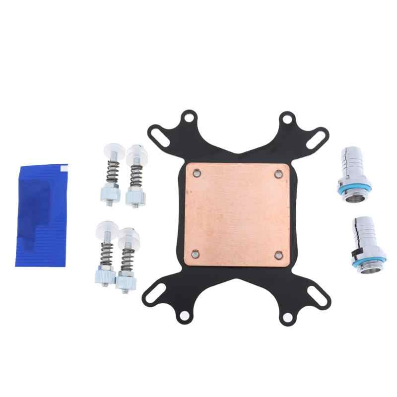 Universal CPU Water Cooling Block Waterblock Nickel Plated Copper Base Inner Channel For Intel 775/1150 for AMD AM2/AM3