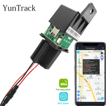 Latest Motorcycle Car Relay GPS Tracker 9-95V hide Tracking Device Cut Off Oil Towed away ACC status Alarm Locator System free