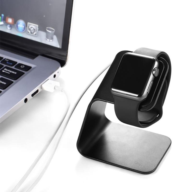 Металлическая Алюминиевая Подставка для зарядного устройства для Apple Watch, кронштейн, подставка для зарядного устройства для Apple i Watch, док-ста...