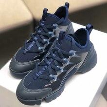 Zapatos deportivos de moda para mujer, zapatillas de deporte con cordones de alta calidad para primavera y otoño, deportivas informales de retales para exteriores