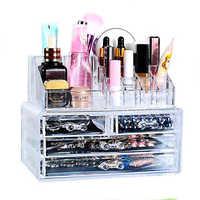Haushalt Acryl Transparent Make-Up Organizer Lagerung Box Make-Up Veranstalter Kosmetische Veranstalter Make-Up Lagerung Schubladen Veranstalter