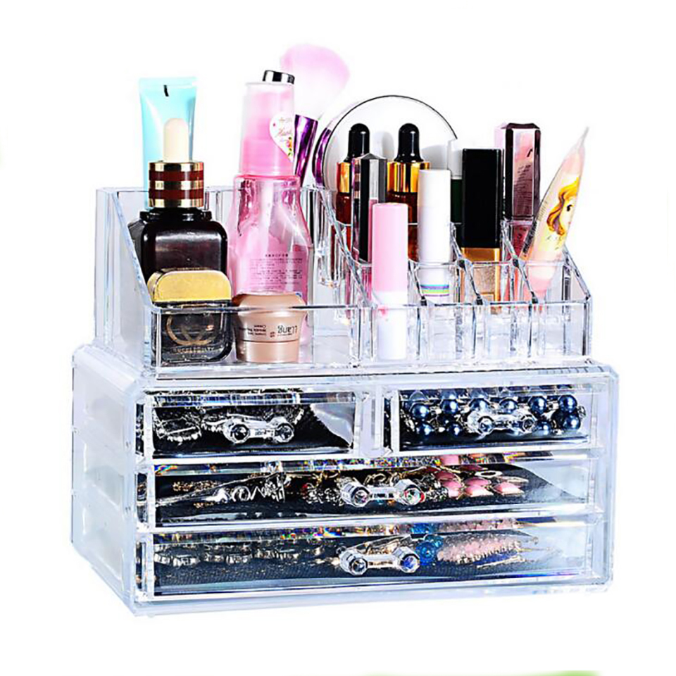 Household Acrylic Transparent Makeup Organizer Storage Box Make Up Organizer Cosmetic Organizer Makeup Storage Drawers Organizer
