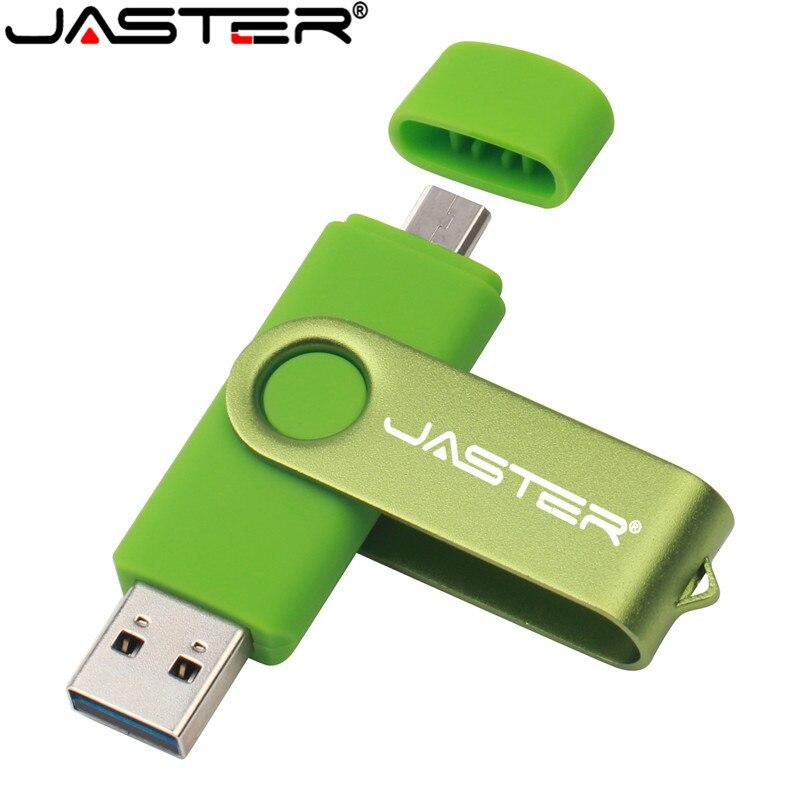 JASTER USB Flash Drive OTG High Speed Drive 64 GB 32 GB 16 GB 8 GB 4GB External Storage Double Application Micro USB Stick