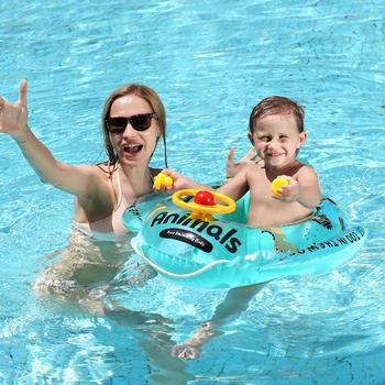 Baby summer swimming pool accessories Swimming ring Inflatable swimming float 3-6 years old swimming seat boat Water toys water paddle boat hand boat for child under 7 years old