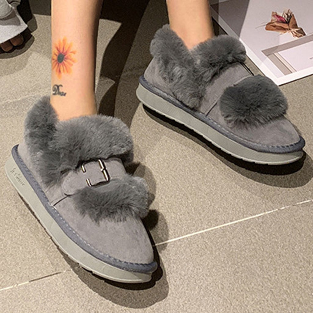 Quality Woman Boots Snow Ankle Boots Plush lining Heels Shoes Woman Female Warm Comfort Boots 2019 Flat 55