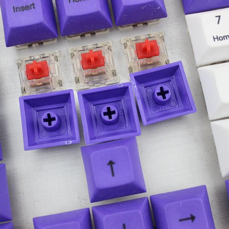 DSA Top Printed White Purple Keycaps Dye Sub Pbt Razer Gh60 Poker2 Xd64 87 104 Xd75 Xd96 Xd84 K70 Cherry Mechanical Keyboard in Keyboards from Computer Office