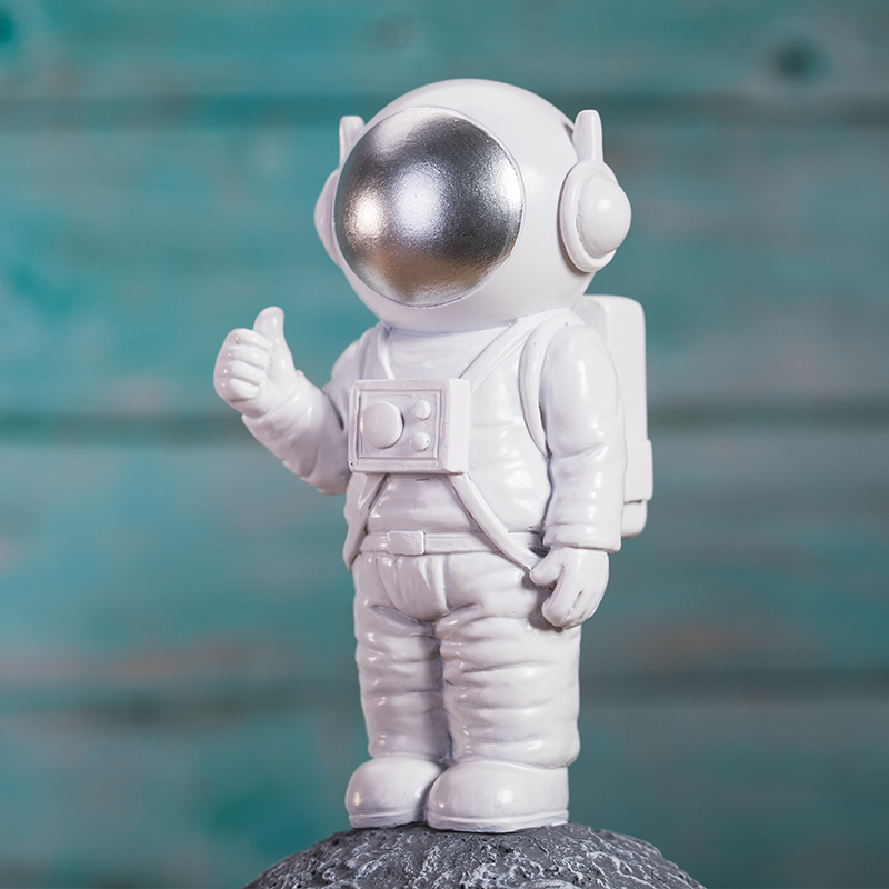 Creative Baby Tooth Box Astronaut Design For Kids Gift Organizer Save Boxes Milk Teeth Baby Souvenirs Resin Type Save Box ZL225