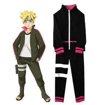 Naruto Shippuden Uzumaki Boruto Cosplay Costume Black Sportwear For Halloween Coat Pants Set - DISCOUNT ITEM  30% OFF All Category